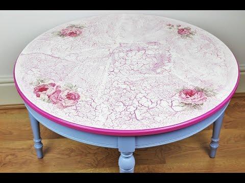 Decoupage refurbished table - Decoupage tutorial - DIY