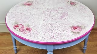 Decoupage refurbished table - decoupage furniture  - Decoupage tutorial - decoupage for beginners