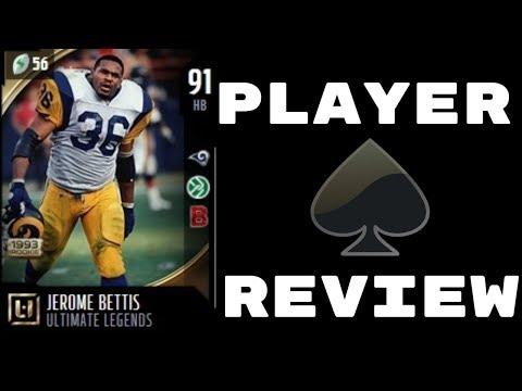 91 OVR Jerome Bettis | Player Review | Madden 18 Ultimate Team Gameplay