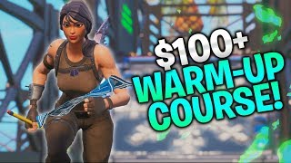 $100+ Warm-Up Course! Aim, Edits, Builds! (Fortnite PC, Console, Mobile)