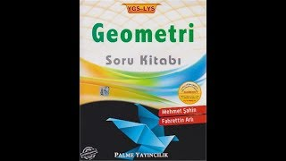 Palme Yayınları YGS-LYS Geometri Soru Kitabı-Ek çözümlü örnekler-Mehmet Şahin Ve Fahettin Arlı