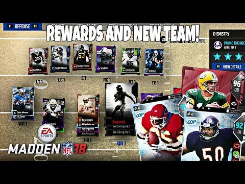 WEEKEND LEAGUE REWARDS AND NEW TEAM?! Madden 18 Ultimate Team