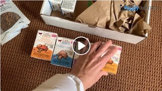 Caru Wet Cat Food Unboxing Video - Classic Stews for Cats Variety - Natural Cat Food