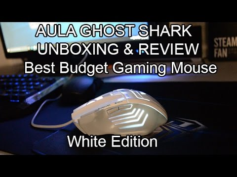 AULA Ghost Shark WHITE  Mouse - USB Red Laser Mouse Review
