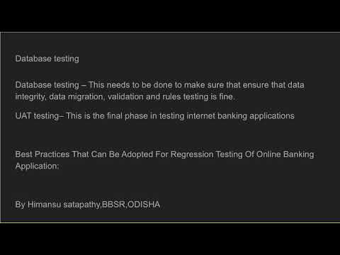 Different Types Of Testing In Internet Banking Applications