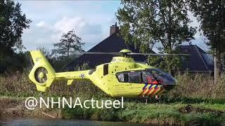 Lifeliner 1 ingezet voor een incident in Broek op Langedijk