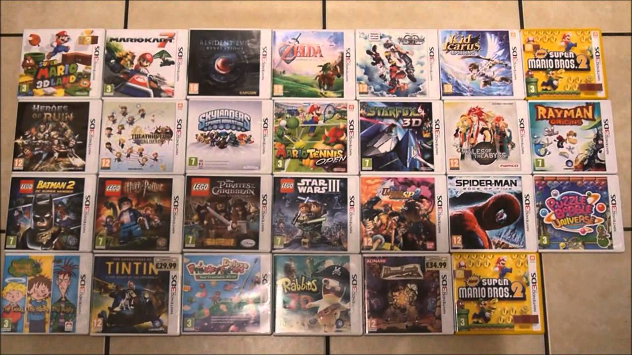 My Current Nintendo 3DS Game Collection + Top Games That I ...