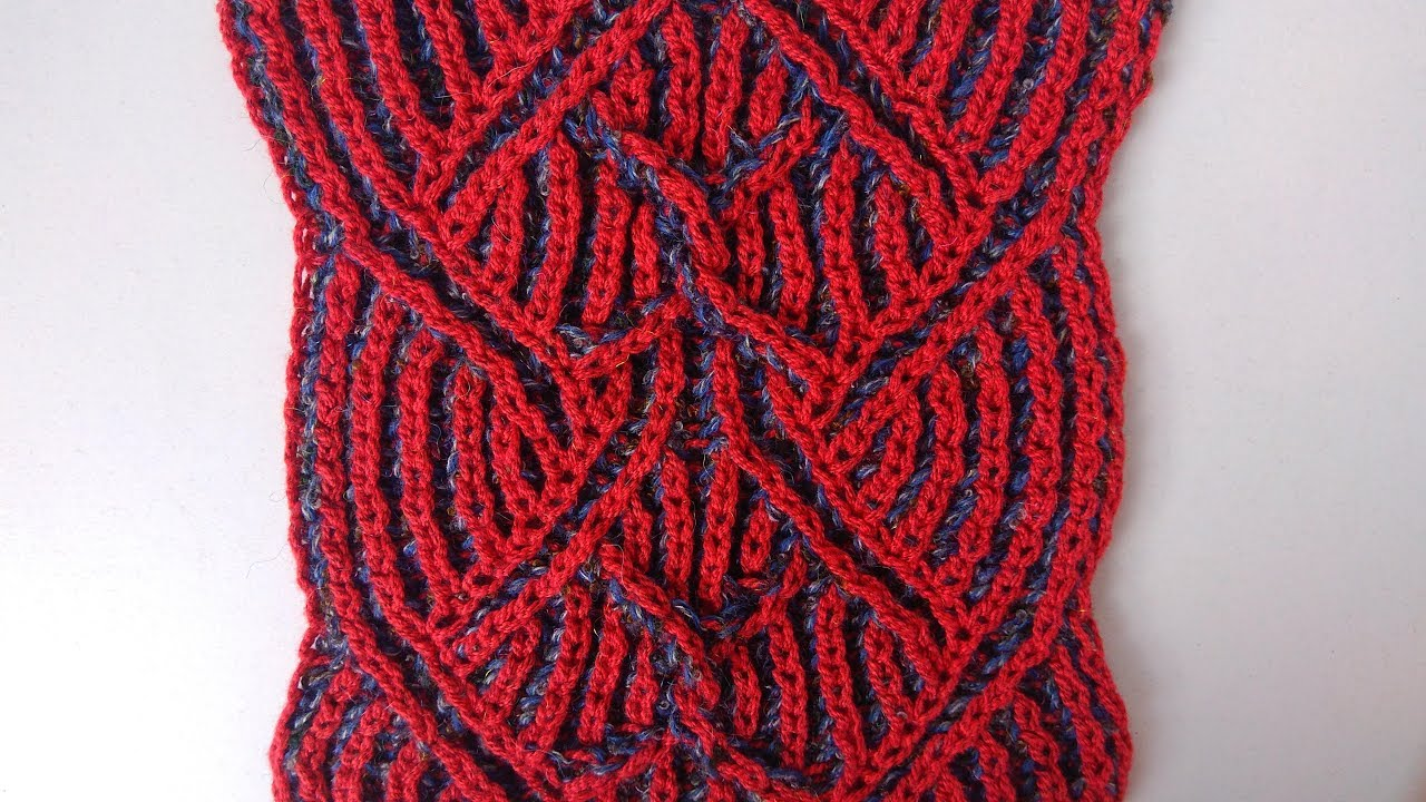 Brioche knitting *Center cable* knitting patterns - YouTube