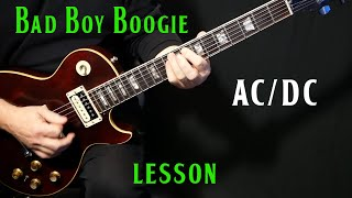 "how to play ""Bad Boy Boogie"" on guitar by AC/DC 