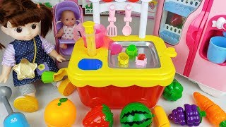 Fruit jelly and baby doll kitchen toys play house story - ToyMong TV 토이몽