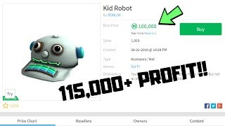 ROBLOX Projecting - PROJECTING KID ROBOT!! 115K+ ROBUX PROFIT!?!