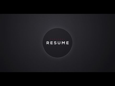 After Effects Template Personal Resume