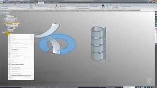Solid Edge ST7 - Helix sheetmetal parts flattening