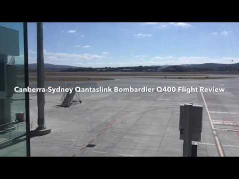 Canberra-Sydney Qantaslink Bombardier Q400 flight review