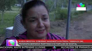 Multinoticias | Entregan terrenos del programa Bismarck Martínez a 42 familias de Ocotal