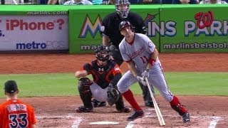 WSH@MIA: Zimmerman crushes a solo shot to left field