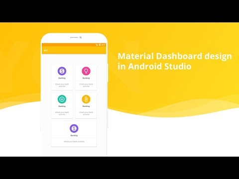 Material Home Page Design(Dashboard) in android studio