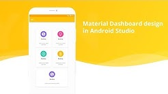 Material Home Page Design  (Dashboard) in android studio