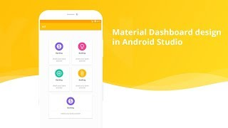 Material Home Page Design  (Dashboard) in android studio thumbnail