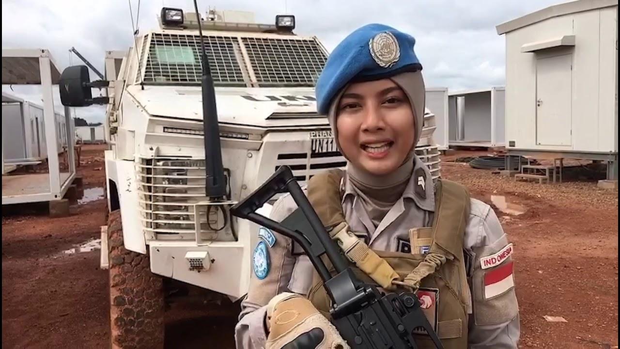 Yang Begini nih Harumkan Nama Bangsa. Polwan Cantik dari Indonesia Jadi Penjaga Perdamaian PBB di Afrika Briptu Hikma Nur Syafa