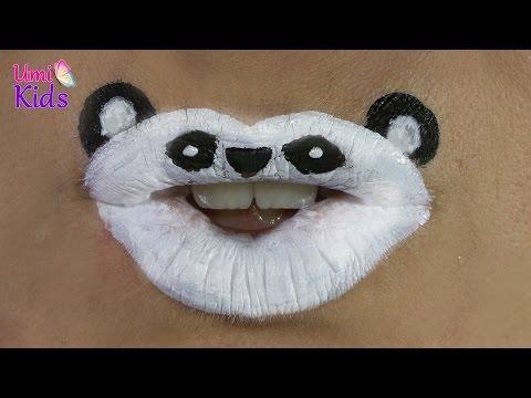 Panda Dudak Makyajı | Dudak Sanatı | Makyaj Videoları | UmiKids