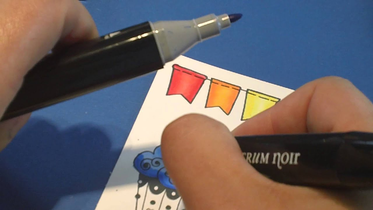 coloring with alcohol based markers youtube