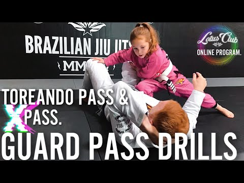 Toreando & X Pass  BJJ Guard Passing Drills