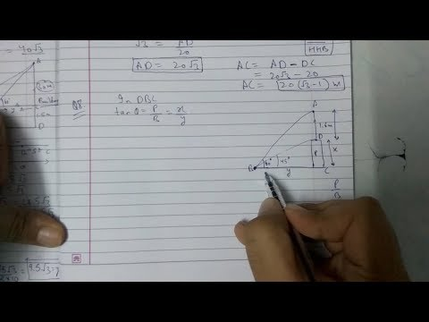 Chapter 9 Exercise 9.1 (Q8) maths class 10 || Applications of trigonometry