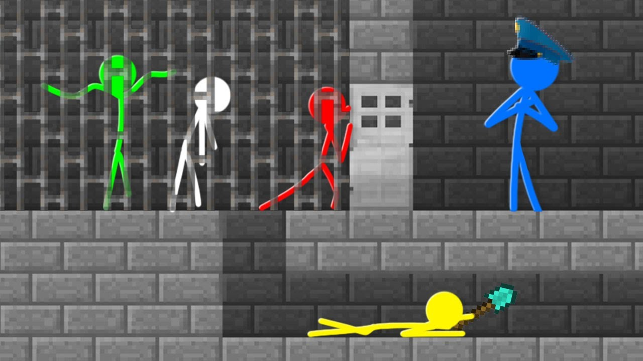 Stickman VS Minecraft: Prison Escape - AVM Shorts Animation