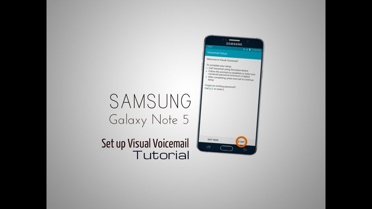Samsung Galaxy Note 5 Set Up Visual Voicemail Tutorial Youtube