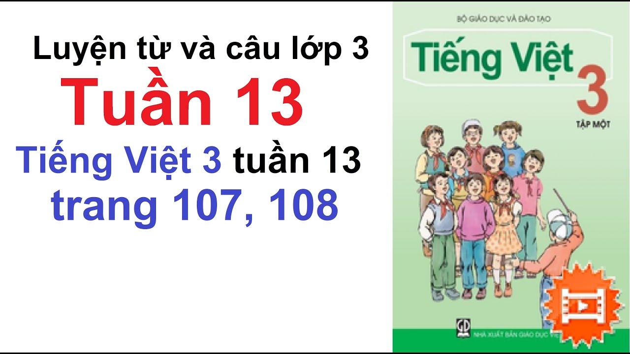 Luyện Từ Và Câu Lớp 3 Tuần 13 – Tiếng Việt Lớp 3 Tuần 13 – Trang 107, 108