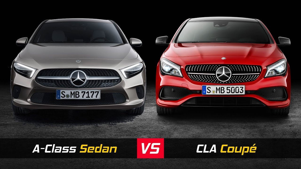2019 Mercedes A Class Sedan Vs Mercedes Cla Coupe Design
