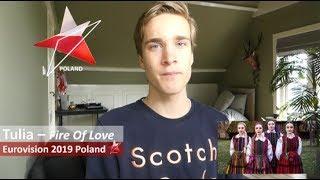 Reaction video Tulia - Fire Of Love Poland Eurovision 2019