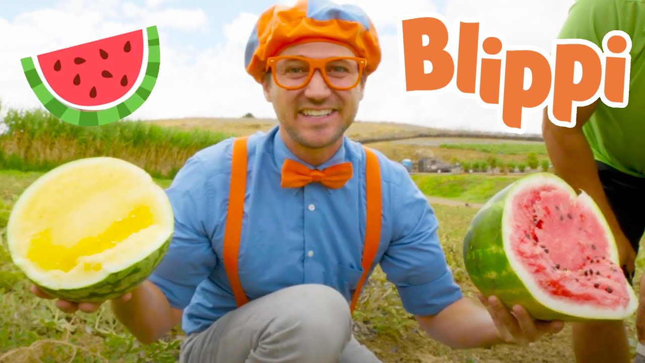 Blippi Visits Tanaka Farm | Healthy Eating Videos For Kids | Educational Videos For Kids