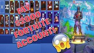 My $2000 Fortnite Account! *Fortnite Locker Showcase*