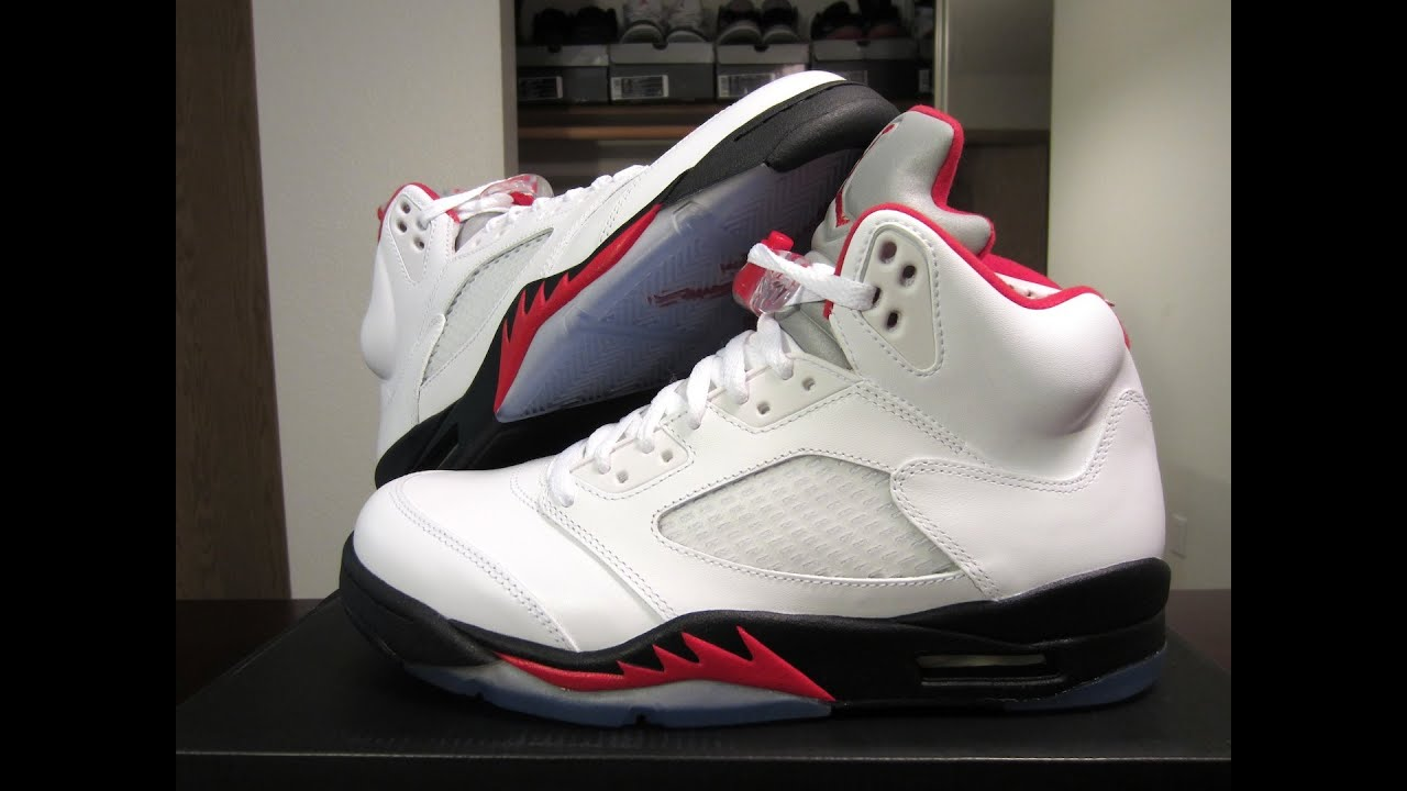 Unboxing  Jordan 5 Retro Fire Red-Black 2013 - YouTube 6959fbe54