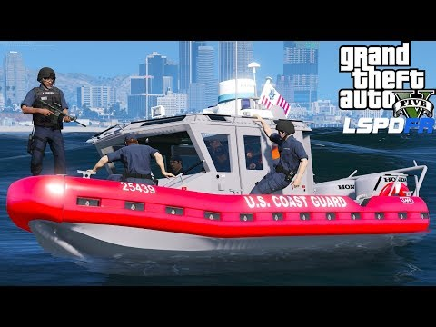 GTA 5 Coastal Callouts | United States Coast Guard Maritime Safety Team Enforcing Security Zones