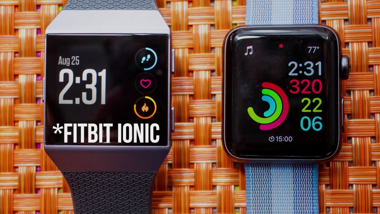 Fitbit Ionic Vs Apple Watch 3 All You Need To Know Youtube Adidas