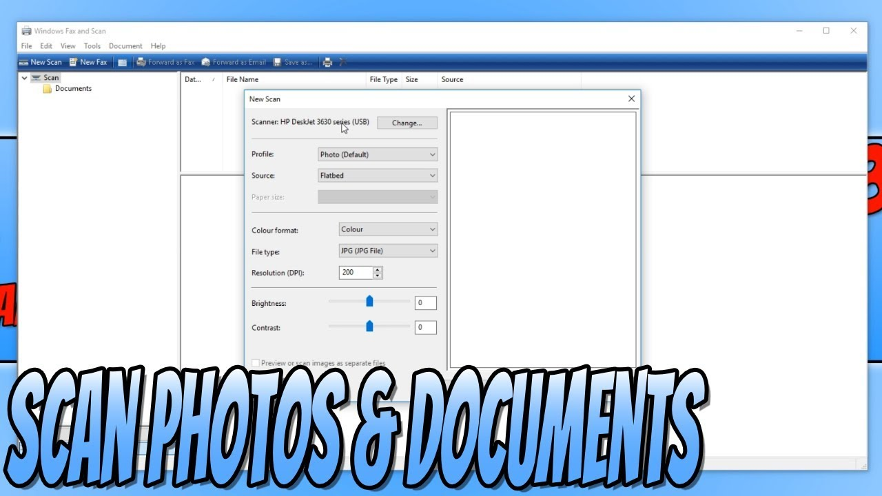 How To Scan Photos and Documents Without Installing Any Software Windows 10 Tutorial