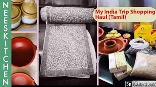 My India trip shopping haul!!!அம்மிக்கல், மண் பாத்திரம் ,பீங்கான் பொருள்கள்