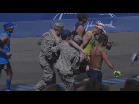 Sights and sounds of the 2017 Boston Marathon finish line