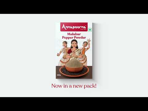 Annapoorna Malabar Pepper Powder - Unveiling the new packaging