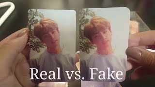 [Ebay] Buying Unofficial BTS cards! |  Real vs. Fake Comparison