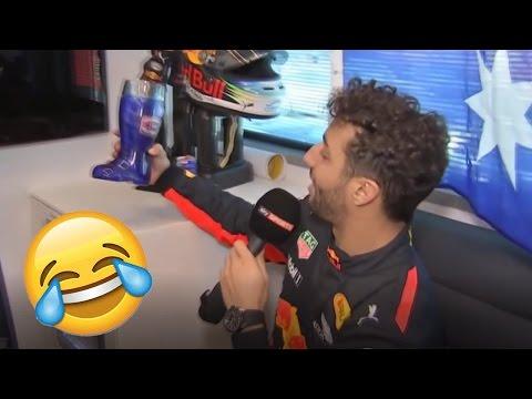 Daniel Ricciardo Funny Q&A in His Motorhome F1 2017