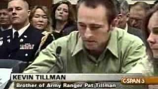 Pat Tillman Testimony re-Kevin Tillman