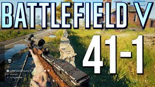 Battlefield 5: 41-1 on New Map Panzerstorm! (PS4 Pro Multiplayer Gameplay)