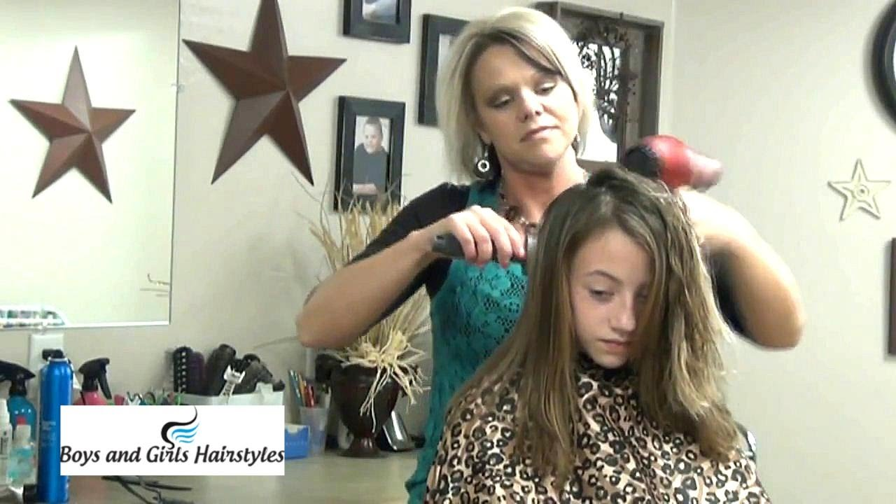 Medium Hairstyles Haircut Tutorial For Layered Length Hair Youtube