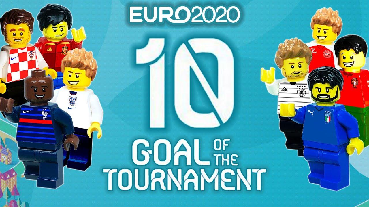 UEFA Euro 2020 - Top 10 Goals Of The Tournament in lego football Film