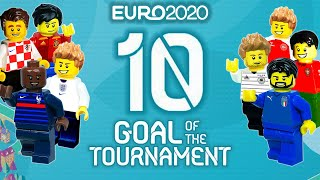 UEFA Euro 2020 Top 10 Goals Of The Tournament in lego football Film
