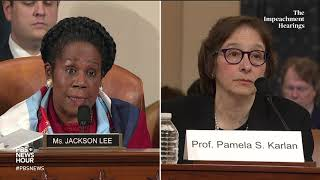 WATCH: Rep. Sheila Jackson Lee's full questioning of legal experts | Trump impeachment hearings